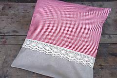 Úžitkový textil - Károvaná obliečka na vankúš - 8610993_