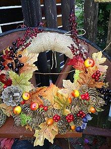 Dekorácie - Jesenný veniec 9 - 8609540_