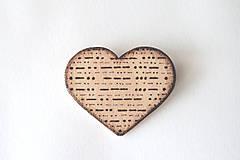 Odznaky/Brošne - ♥ Láska v morseovke - brošňa zo série ''Zašifrovaná láska'' - 8608002_