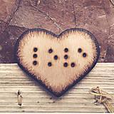 Odznaky/Brošne - ♥ Láska v Braillovom písme - brošňa zo série ''Zašifrovaná láska'' - 8608074_