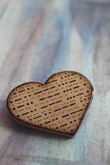Odznaky/Brošne - ♥ Láska v morseovke - brošňa zo série ''Zašifrovaná láska'' - 8608006_