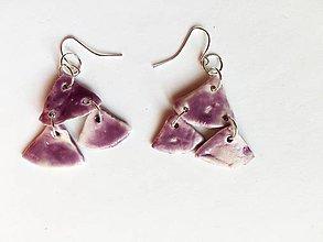 Náušnice - fialové - 8607501_
