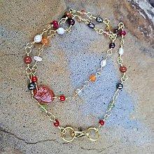 Náhrdelníky - Hrejivý- drôtikovaný jemný náhrdelník - 8610407_