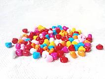 Korálky - Akrylové srdiečka 9mm - mix - 8607452_