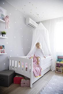Úžitkový textil - Biely baldachýn 250cm - 8610747_