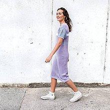 Šaty - Fialové šaty - 8608937_