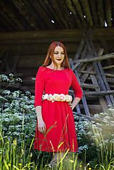 Šaty - Červené šaty - 8607462_