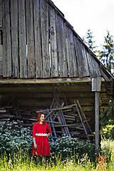 Šaty - Červené šaty - 8607463_
