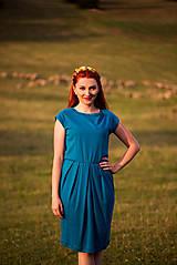 Šaty - Tyrkysové šaty - 8607477_