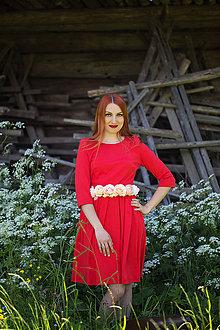 Šaty - Červené šaty - 8607464_
