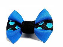 - Motýlik pre psa Modrá bodka - 8609785_