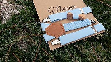 Detské doplnky - Detský set - drevený motýlik a traky - 8608969_