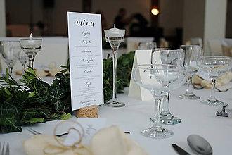 Grafika - Svadobné menu a menovky a čísla stolov - 8610961_