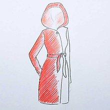Kabáty - Kabát Červená Čiapočka - 8608975_