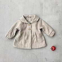 Detské oblečenie - Dievčenský ľanový kabátik - natural - 8610571_