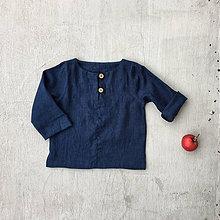 Detské oblečenie - Detský ľanový top - rôzne farby - 8610639_