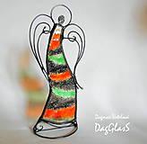 Dekorácie - Dekorácia ANJEL v pohybe - vitráž - 8609424_