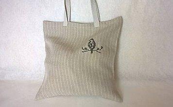 Nákupné tašky - Textil taška - ľanová - 8607769_