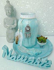 Svietidlá a sviečky - Namaste dekorácia svietnik a doplnky AKCIA - 8609592_