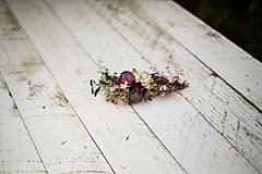 """Ozdoby do vlasov - Kvetinový štvrťvenček """"za horou"""" - 8608636_"""