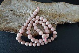 Minerály - Opál ružový 6mm - 8611010_