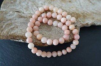 Minerály - Opál ružový B 8mm - 8611029_
