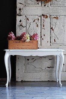 Nábytok - Konferenčný stolík v nežnej bielej - 8610222_
