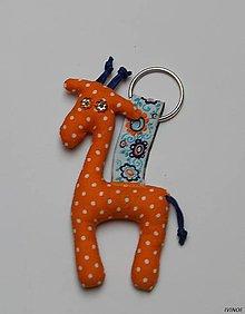Kľúčenky - Prívesky na kľúče - žirafka - 8609197_