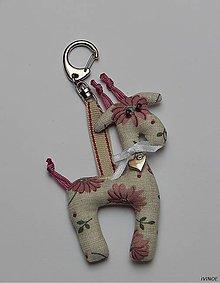 Kľúčenky - Prívesok na kľúče - žirafka - 8609226_