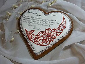 Dekorácie - Ďakovne srdce ,,s výšivkou,, - 8614577_