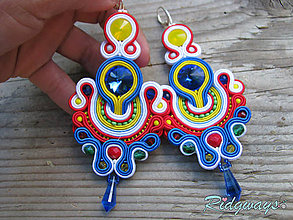 Náušnice - Color explosion (4...soutache) - 8614628_