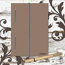 Papiernictvo - MADEBOOK kniha A5 - modrá gumička - 8611529_