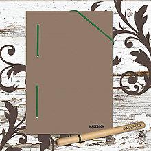 Papiernictvo - MADEBOOK kniha A5 - zelená gumička - 8611542_