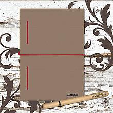 Papiernictvo - MADEBOOK kniha A5 - bordová gumička - 8613166_