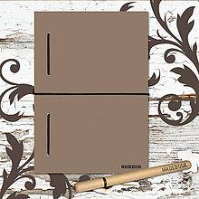 Papiernictvo - MADEBOOK kniha A5 - čierna gumička - 8613196_
