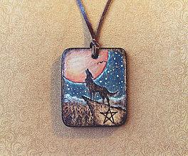 Náhrdelníky - Amulet - Polnoc v lese - 8611225_