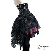 Sukne - Gotická čipková vlečka k sukniam - 8614829_