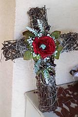 Dekorácie - Krížik na hrob - 8613758_