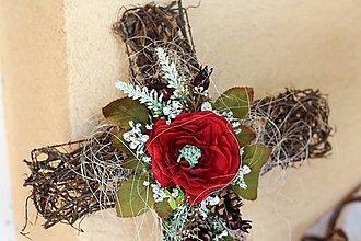 Dekorácie - Krížik na hrob - 8613763_