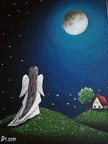 Obrazy - Maľovaný anjelik I - 8613426_