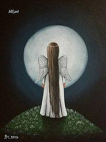 Obrazy - Maľovaný anjelik III - 8613481_