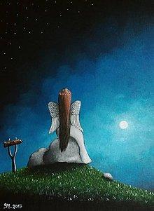 Obrazy - Maľovaný anjelik VI - 8613627_