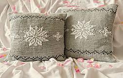 Úžitkový textil - šedá vločka - 8612047_