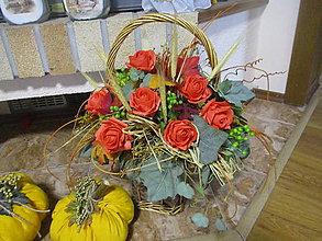 Dekorácie - Jesenný košík - 8612235_