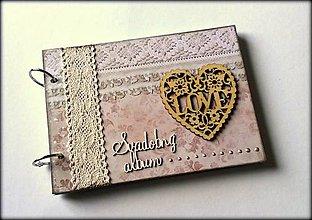 Papiernictvo - Vintage svadobný album A5 - 8612049_