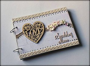 Papiernictvo - Vintage svadobný folk fotoalbum * kniha hosti A5 * album - voliteľný nápis - 8612210_