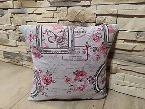 Úžitkový textil - Dekoračné obliečky na vankúše v modrej aj ružovej - 8612122_