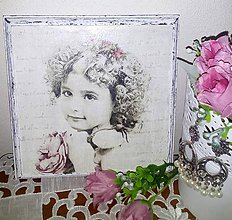 Obrázky - Obraz - Dievčatko s venčekom - 8611491_