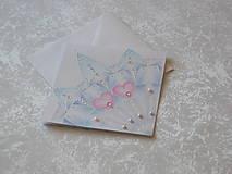 Papiernictvo - Pohľadnica svadobná....belasá - 8612636_