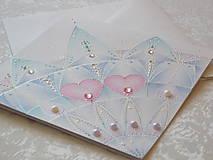 Papiernictvo - Pohľadnica svadobná....belasá - 8612643_